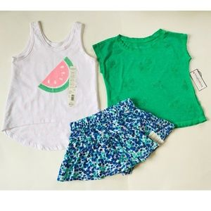 Toughskins Girls Sleeveless Tops & Skort Size S(4)